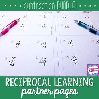 Subtraction Practice Partner Pages- BUNDLE
