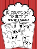 Subtraction Practice Sheets {Guided Practice}