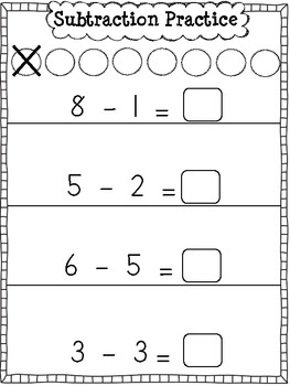 Subtraction Practice Sheets {Model Drawing}