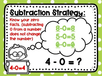Subtraction Practice Within 10: Knowing Zero Facts