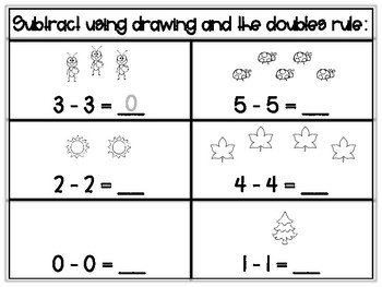 Subtraction Practice Within 10: Knowing the Doubles Rule