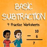 Subtraction Practice Worksheets Mini Pack