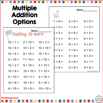Subtraction Practice for Kindergarten and First Grade