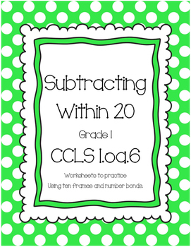 Subtraction Practice to 20 1.OA.6