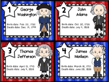 Subtraction Practice with Presidents' Ages