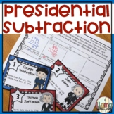 Subtraction Task Cards with Presidents' Ages
