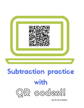 Subtraction Practice with QR codes!