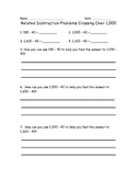 Common Core Subtraction Practice with Related Problem Sets