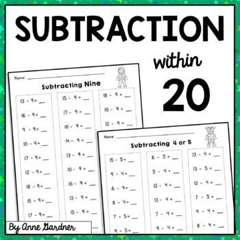 Subtraction Practice within Twenty: Subtracting Zero through Ten