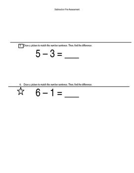 Subtraction Pre-Assessment