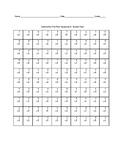 Basic Subtraction Quiz (0-9's)