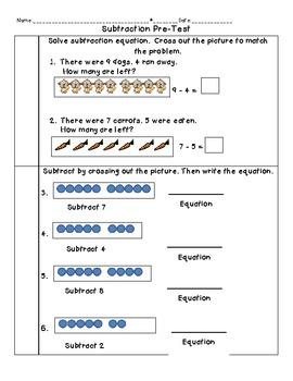 Subtraction Pre-test for Common Core