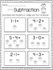 Subtraction Print & Practice: With Pictures (cubes)