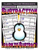 Subtraction - Number Sentence to Match Pictures - Kindergarten/Grade 1/1st Grade