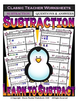 Subtraction - Number Sentence to Match Pictures - Kinderga