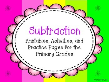 Subtraction Printables, Activities & Practice for the Primary Grades