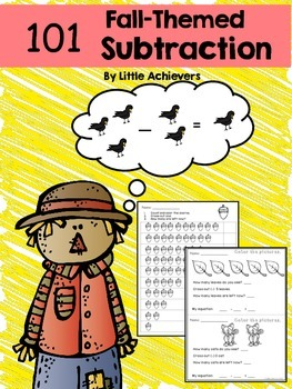 Subtraction Worksheets Within 10 - Fall Theme