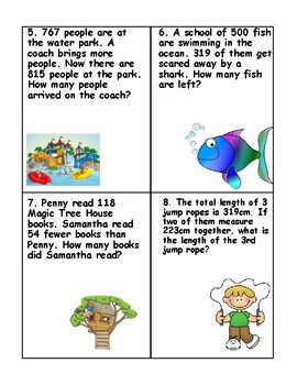 Subtraction Problems Around the Room