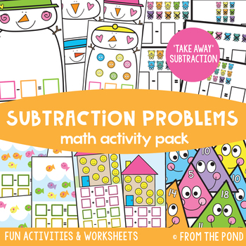 Subtraction Problems and Related Facts Math Activity Pack