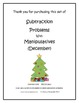 December Subtraction Problems with Manipulatives