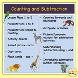 Subtraction Worksheets Activities Presentations - Lessons for PreK and K