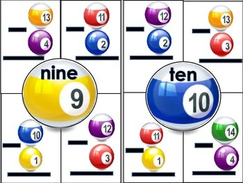 Subtraction Puzzle Balls for Numbers 1-10 Math Station Activity