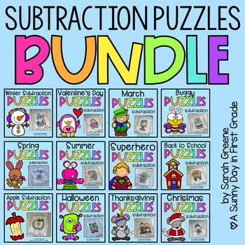 Subtraction Puzzles ALL YEAR LONG!