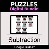 Subtraction - Puzzles Digital Bundle | Google Slides | Dis