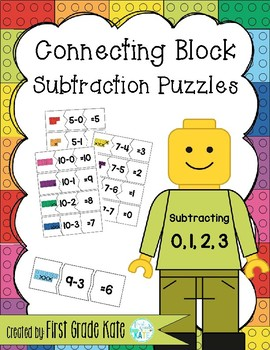 Subtraction Puzzles for Taking Away 0,1,2,3