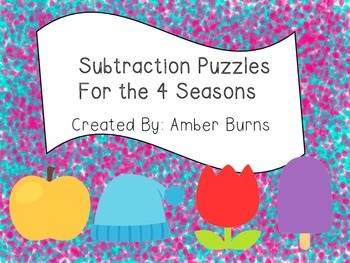 Subtraction Puzzles for the 4 Seasons