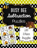 Subtraction Puzzles to 20 (3 piece puzzles)