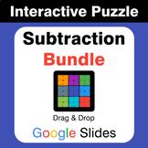 Subtraction Puzzles with GOOGLE Slides Bundle