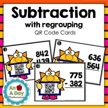 Subtraction QR Code Task Cards
