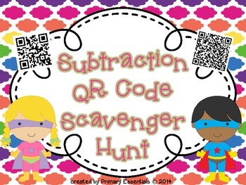 Subtraction QR Code Scavenger Hunt
