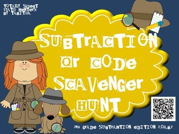 Subtraction QR Code Scavenger Hunt 2.OA.B.2