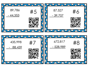 Subtraction QR Codes