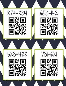 Subtraction QR Codes (Common Core Aligned)