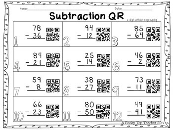 Subtraction QR Fun
