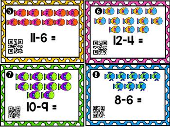 Subtraction QR Task Cards
