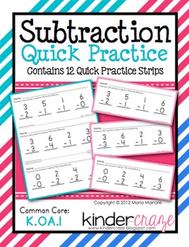 Subtraction Quick Practice
