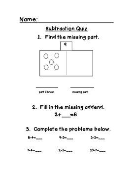 Subtraction Quiz