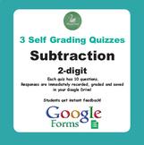 Subtraction Quiz - 2-Digit Numbers (Google Forms)