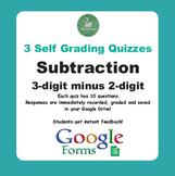 Subtraction Quiz - 3-Digit minus 2-Digit Numbers (Google Forms)