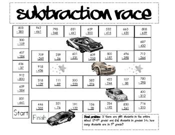 Subtraction Race