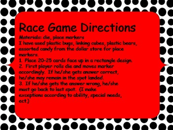 Subtraction Flash Cards for Games 1st Grade