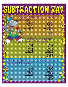 """Subtraction Rap- 8½"""" x 11"""""""