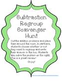 Subtraction Regroup Scavenger Hunt