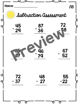 Subtraction Regrouping Assessment