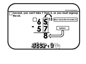 Subtraction Regrouping Flip Book