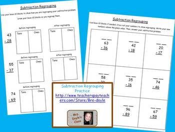 Subtraction Regrouping Practice